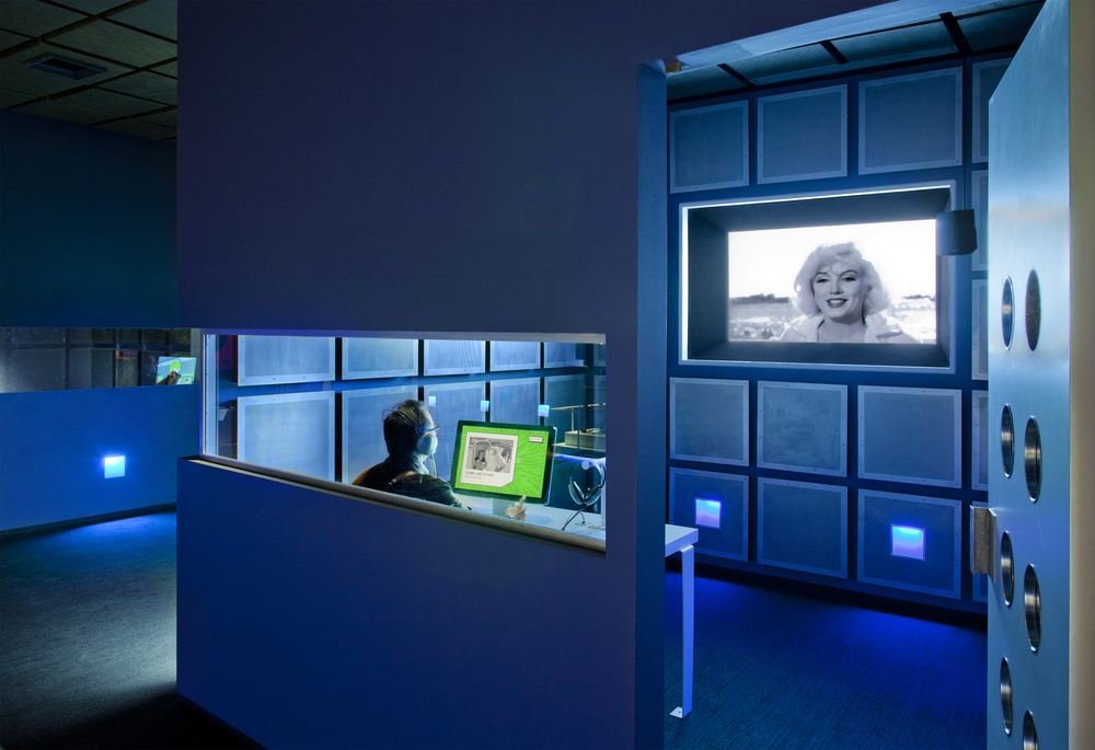 The Automated Dialogue Replacement (ADR) booth. The museum is very interactive!  Courtesy of   Museum of Moving Image  .