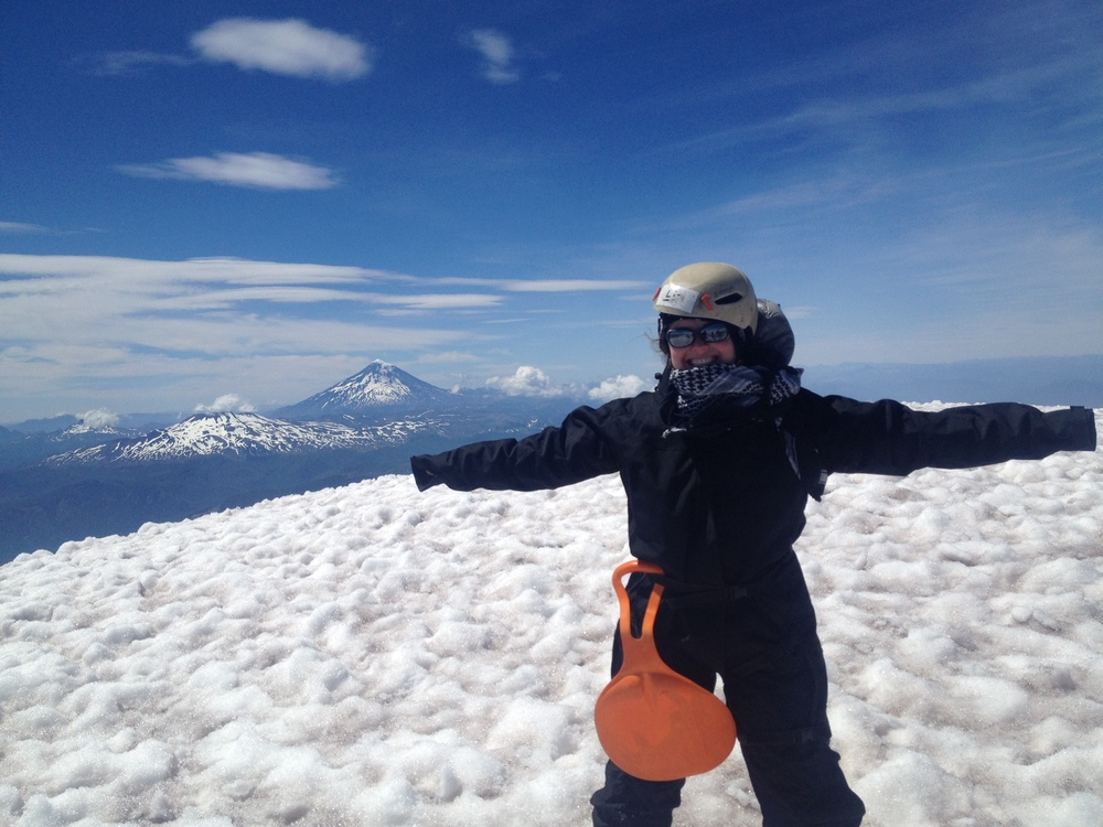 Now that Lizzie B is a partner at the firm, she can do pretty much anything, including climbing volcanoes. Here she is at the Villarrica Volcano, one of Chile's most active volcanoes.
