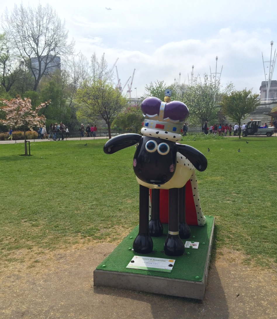 Shaun the Sheep in St. James's Park in London.
