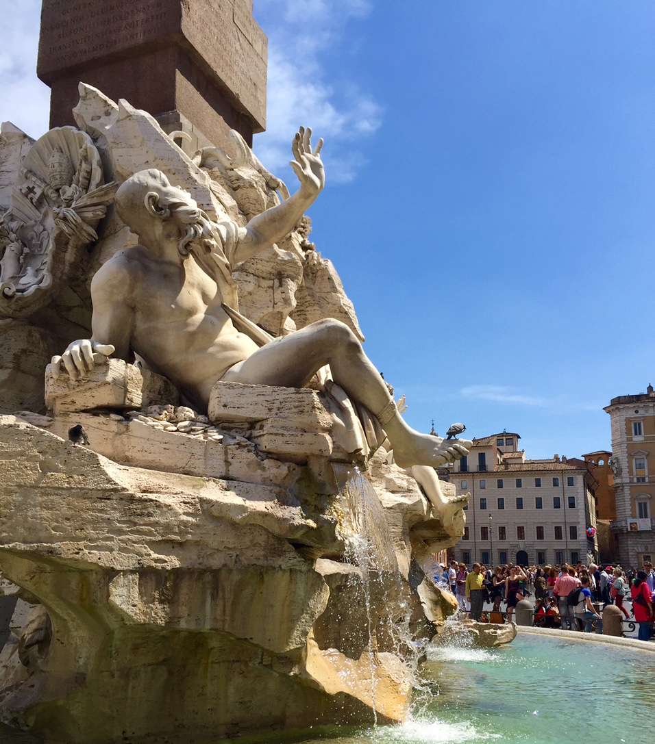 Bernini's   Fountain of the Four Rivers  in Rome.