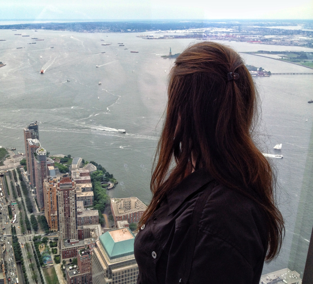 The view from the top of One World Trade Center. (Photo by Mark Uhlemann.)