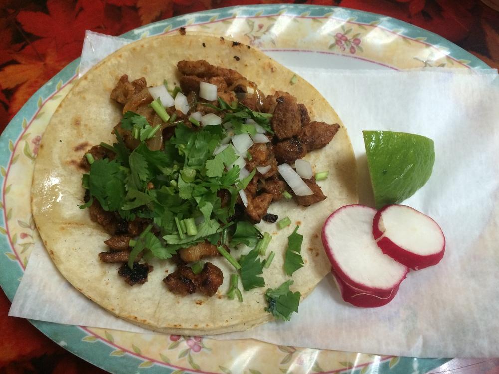 Tortillas were fresh at Aqui En Bella Puebla.
