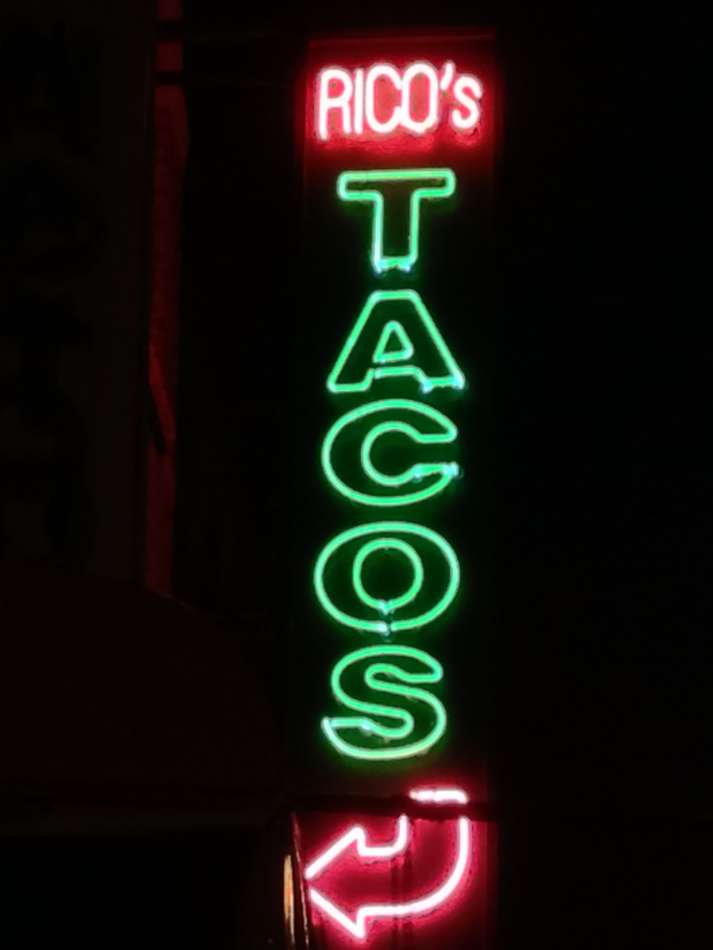 The tacos were okay but loved the neon sign.