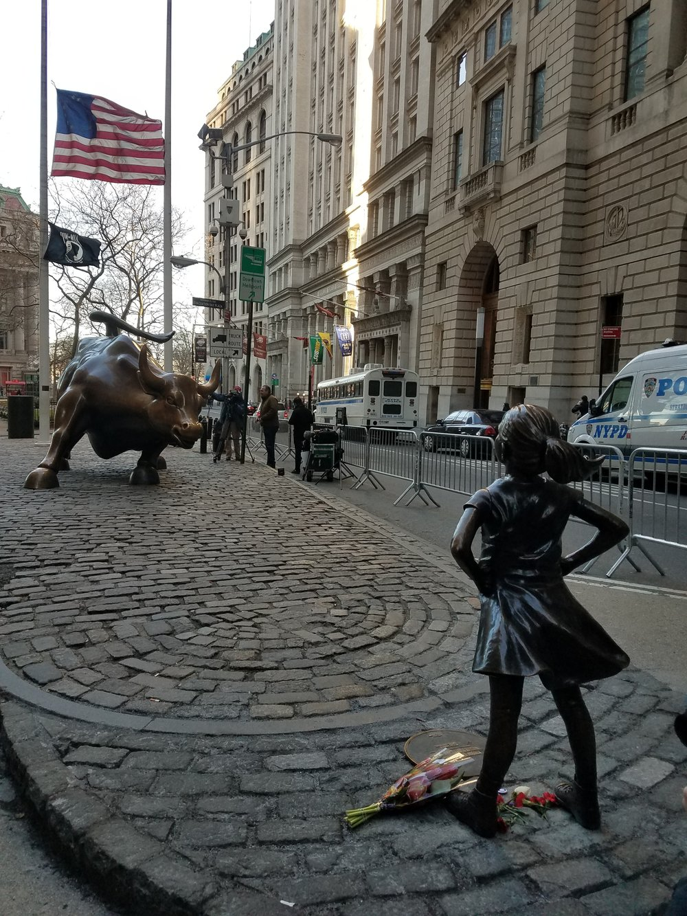 Fearless Girl  by Kristen Visbal.