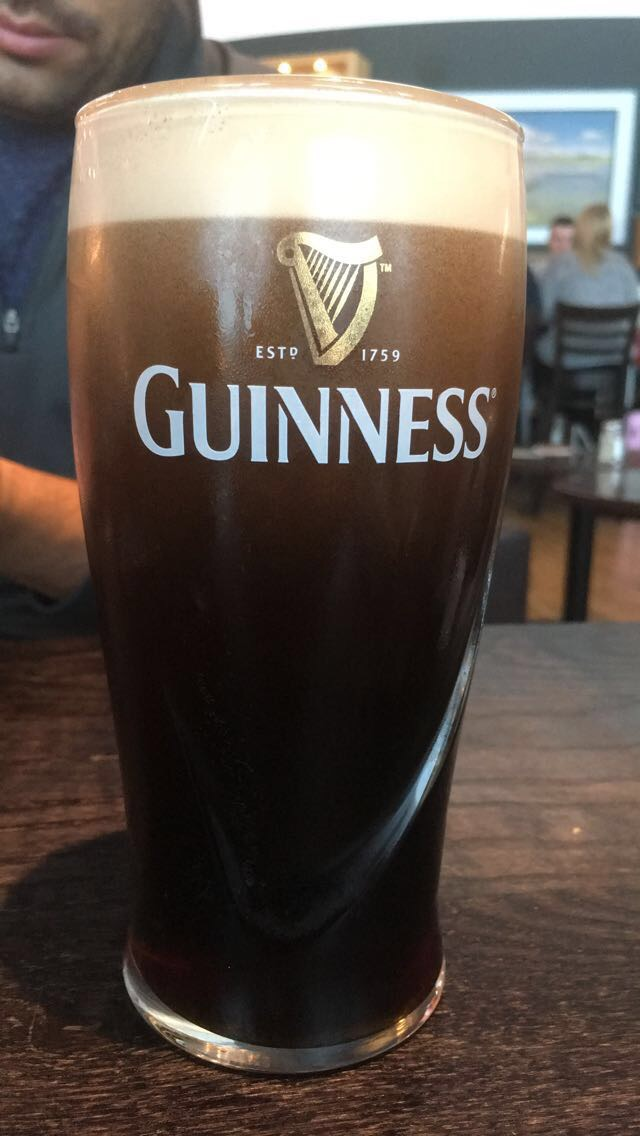 My first Guinness in Ireland. Yes, it was 8:30am.