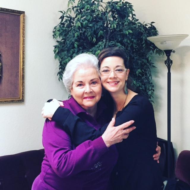 My grandmother Berthil and me.