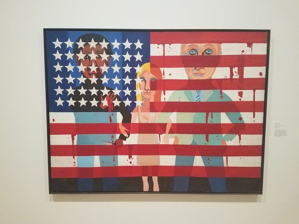 American People Series #18: The Flag is Bleeding  by Faith Ringgold