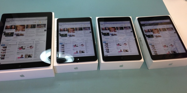 The iPads all setup and ready for collection.
