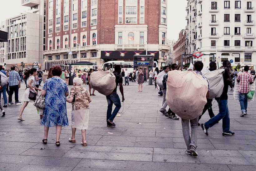 Mujeres mayores a la fuga. Madrid 2013