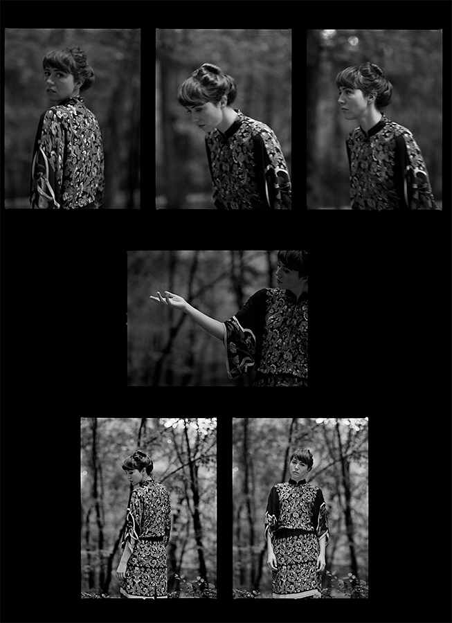 Contact sheet for an autumn portrait