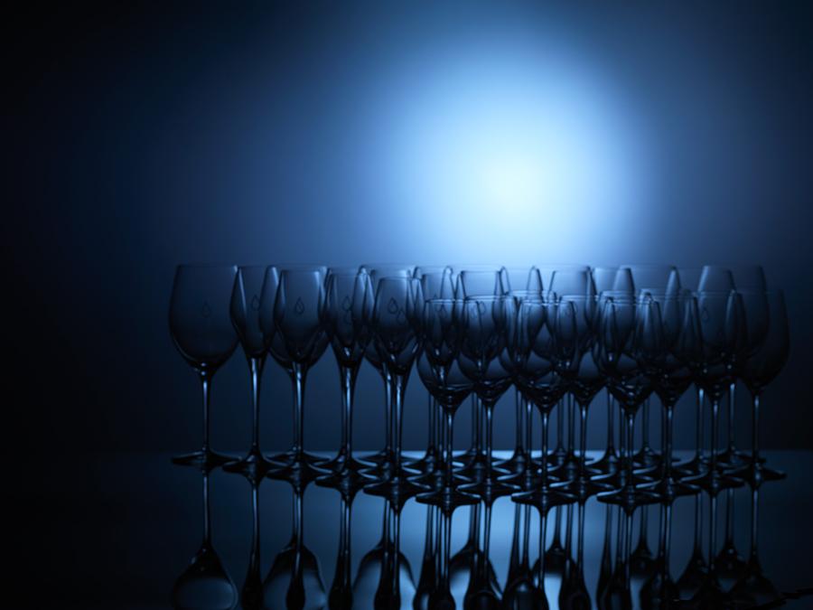 Imagen de fondo para catálogo de cristalería.