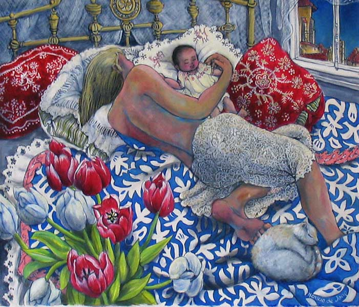 """Mother and Baby sleeping"""