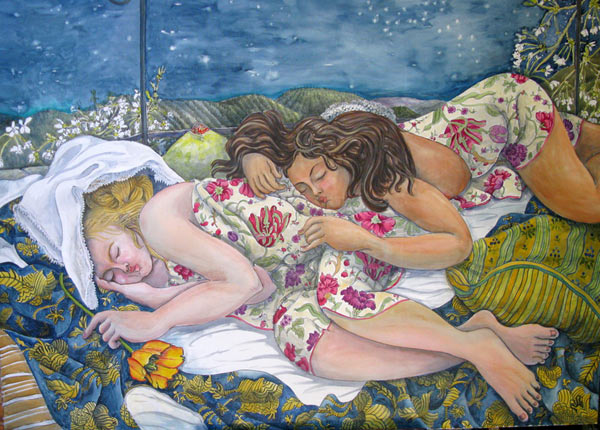 """Two Girls Sleeping under the Stars"""