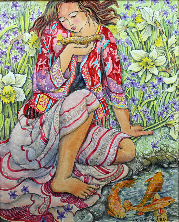 """Girl and Koi"""