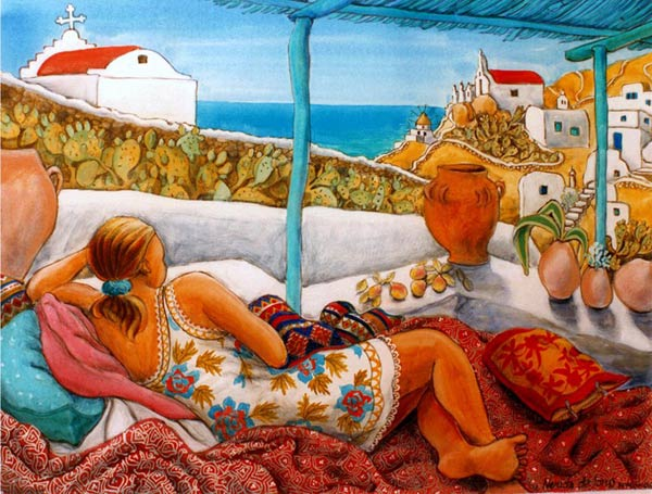 """Reclining Greece"""