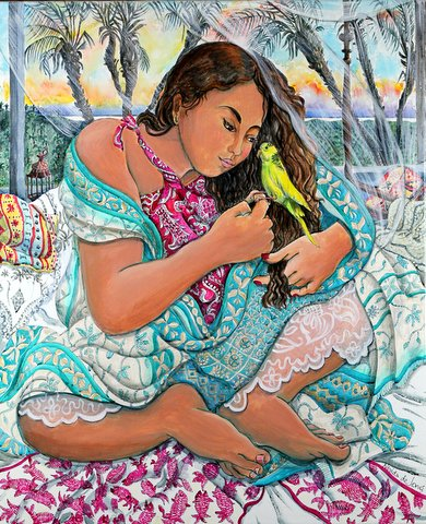 """Girl with bird"""