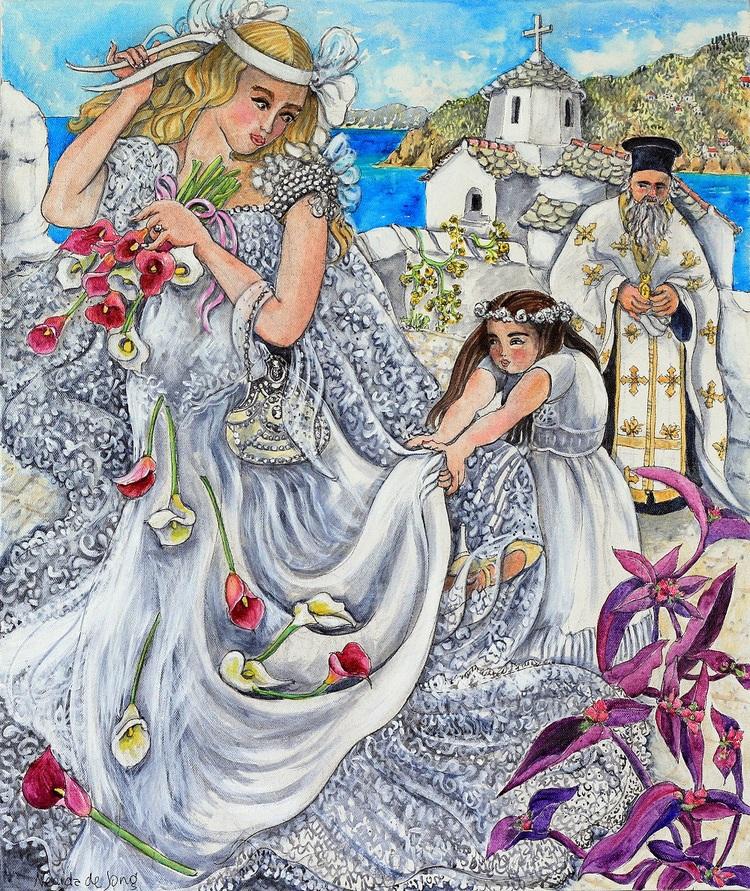 Невеста ходить Путь к ее свадьбе