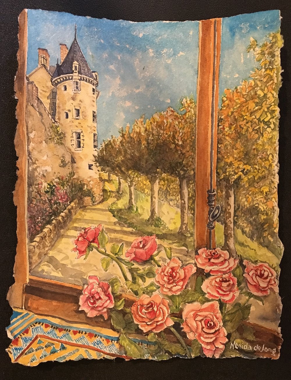 Roses and the Chateau