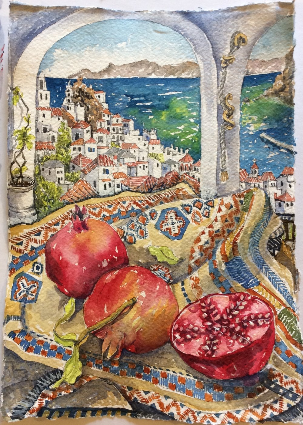 Pomegranates in Skopelos