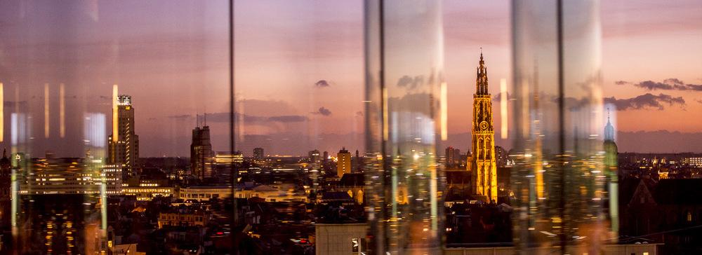 Antwerp skyline from MAS museum