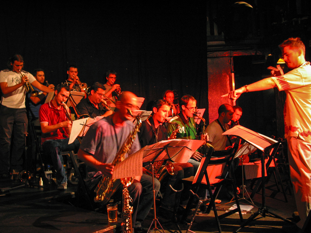 Combustible Alarms Jazz Orchestra performing live
