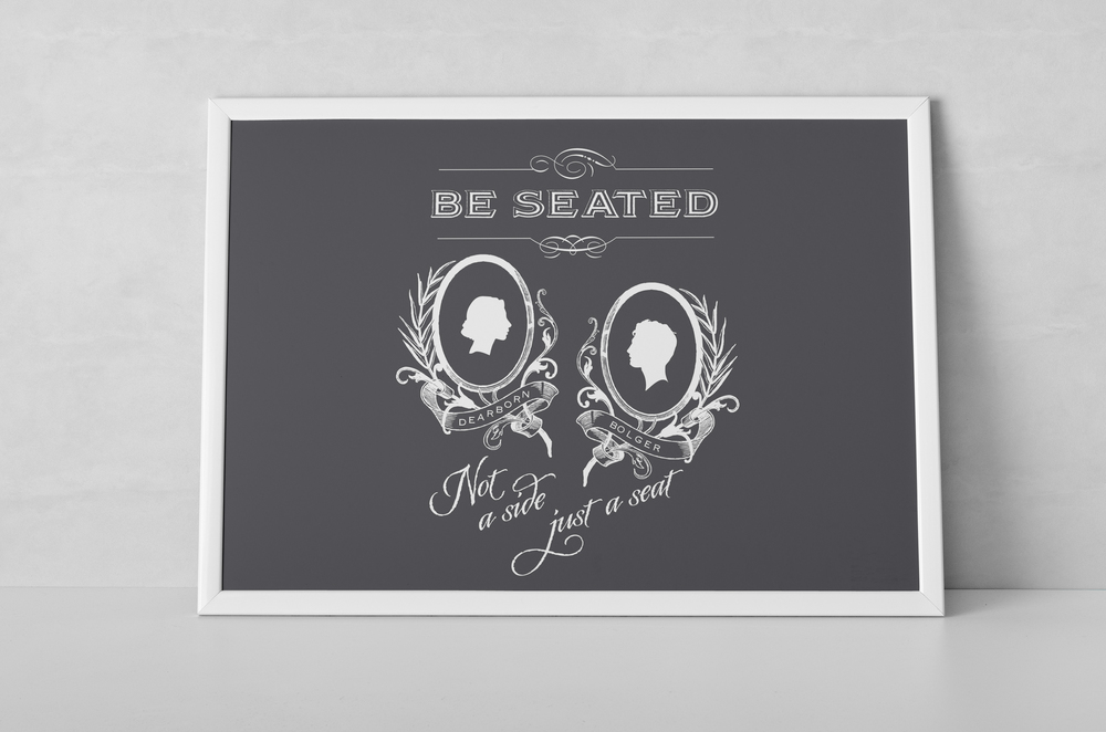 Bride and Groom Silhouette Poster