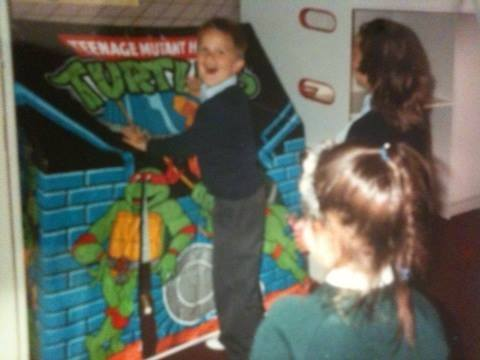 Getting my awesome TMNT tent for my birthday, I spent many fun hours in there.