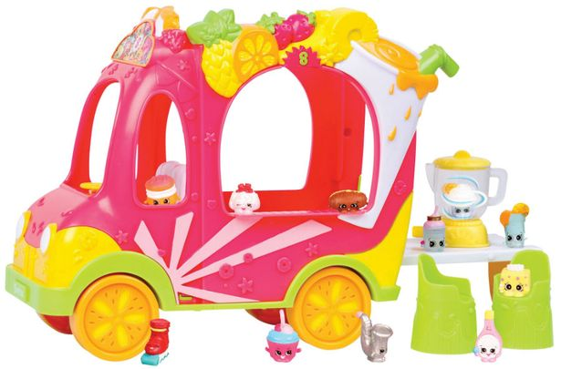 Shopkins Smoothie Truck £19.99    Shopkins is back with a fun smoothie truck playset that includes two shopkins, two stools and a blender. The truck is compatible with all existing Shoppies dolls too, so your little ones can have fun driving them all around.