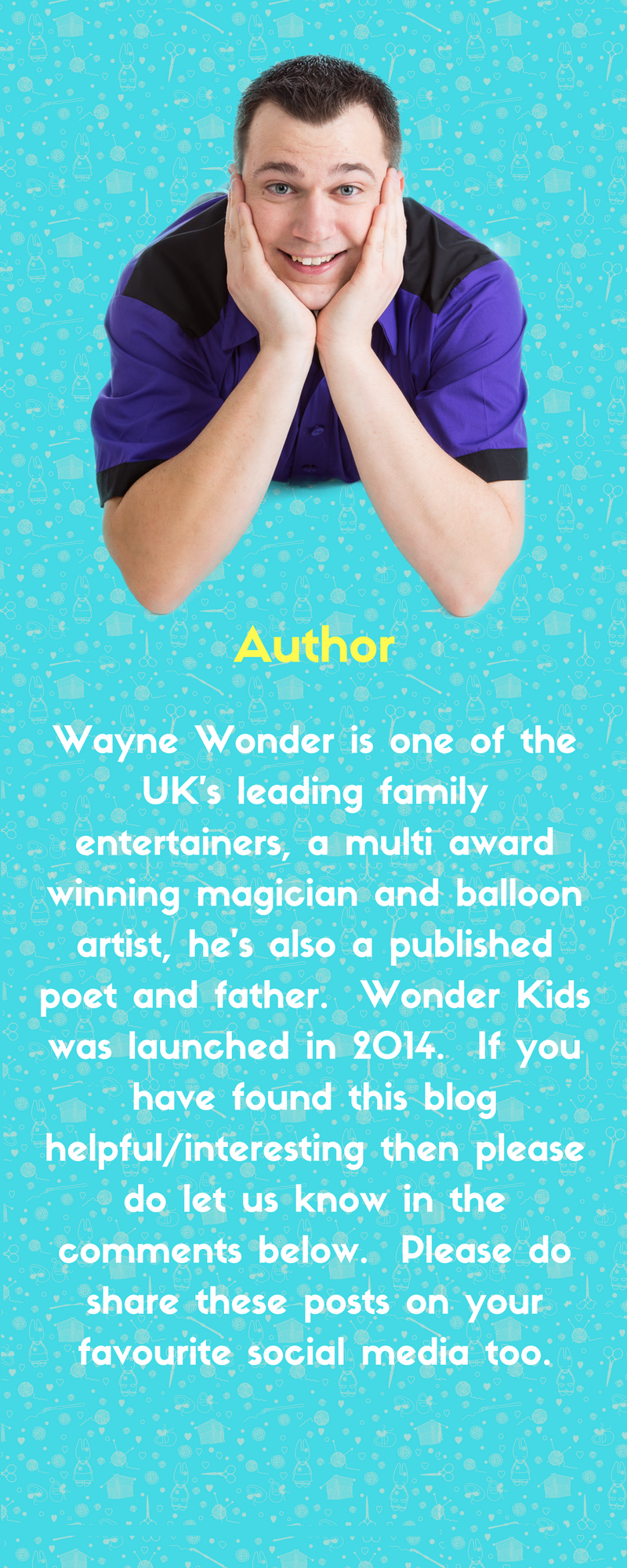 Wayne Wonder Author of Wonder Kids