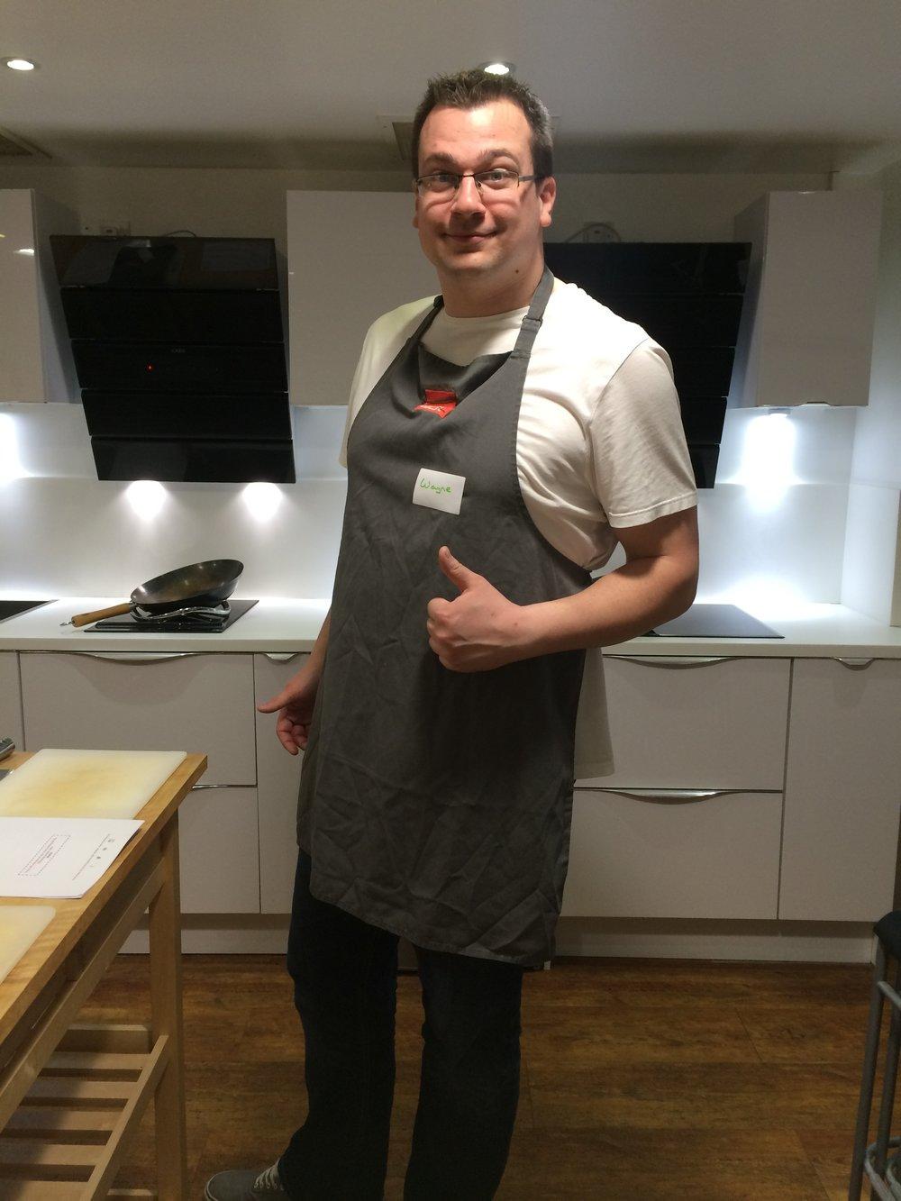 Wayne Wonder Cooking at School of Wok