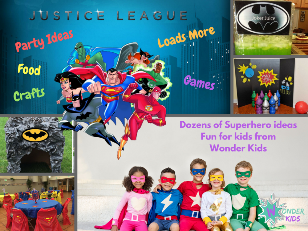Justice League Header from Wonder Kids