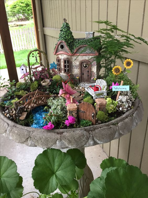Large fairy garden Wayne Wonder