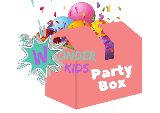 50% off - Introductory offer! These box's contain everything you will need to run an amazing creative party from home or in a small hall.  Devised by Wayne Wonder a veteran children's entertainer, giving you the most affordable party ever!