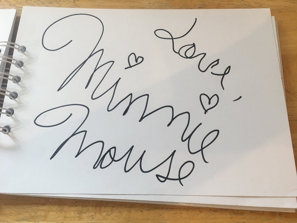 Minnie Mouse Signature