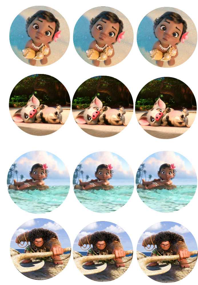 Moana Cup Cake Toppers Wonder Kids