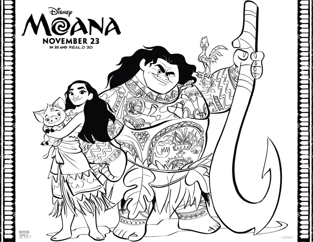 Moana Colouring Wonder Kids 2