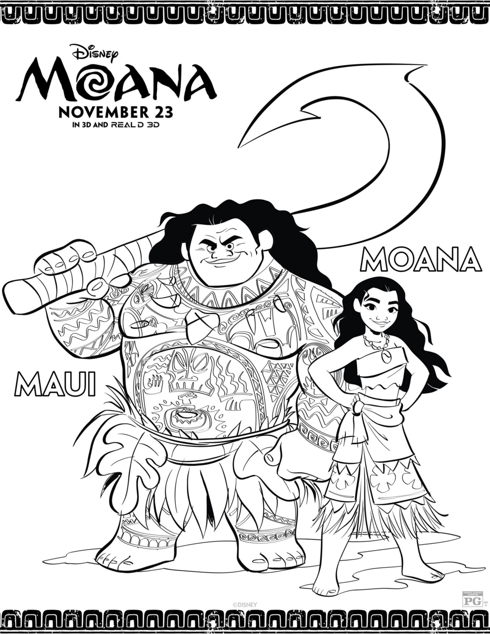 Moana Colouring Wonder Kids 3