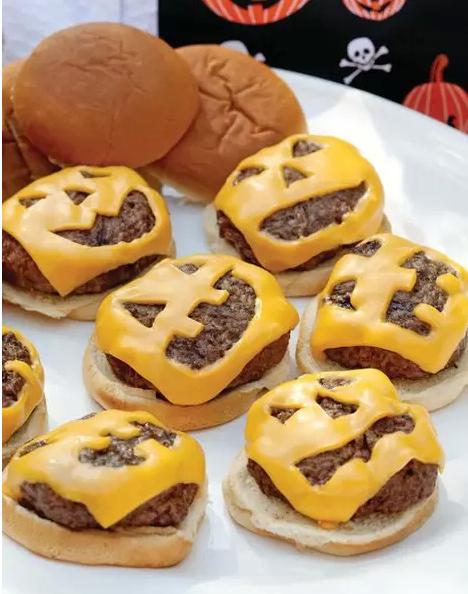 Jack O Lantern Burgers