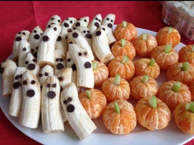 Fruit Ghosts & Pumpkins