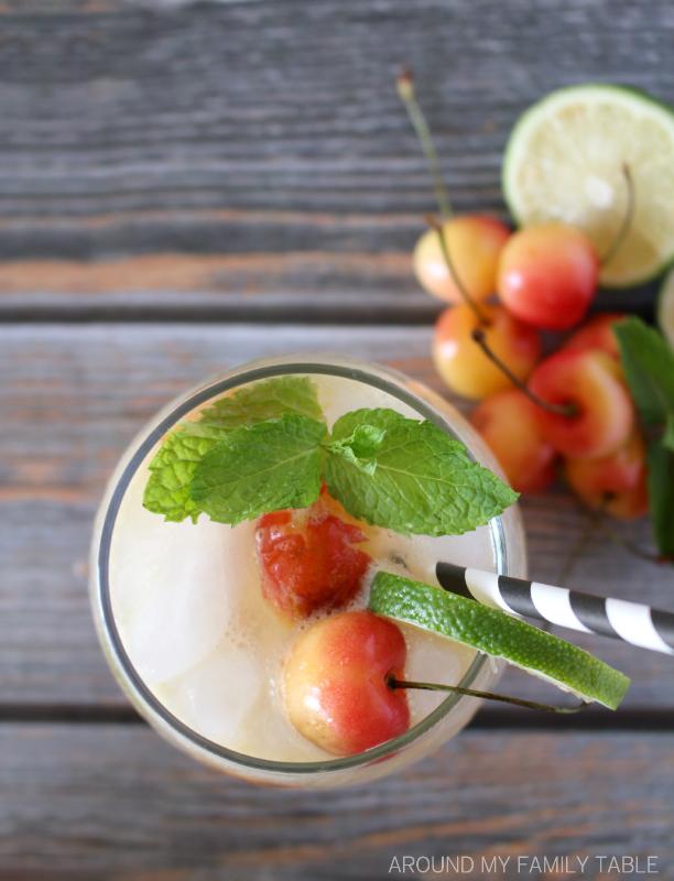 Cherry Mint Glowtini