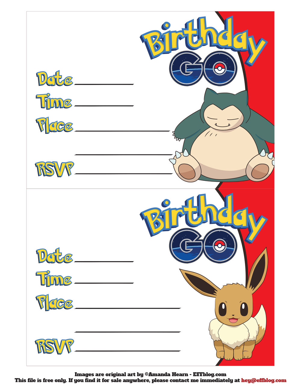 Wonder Kids Pokemon Invite