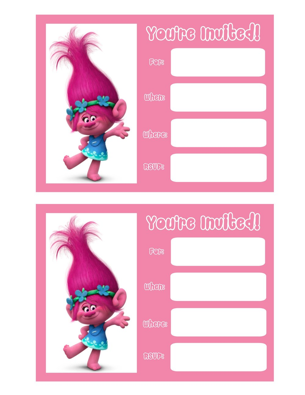 Wonder Kids Trolls Invite