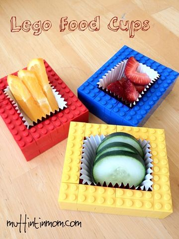 Great Idea Lego Food Pots