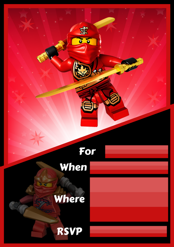 Ninjago Party Invite -