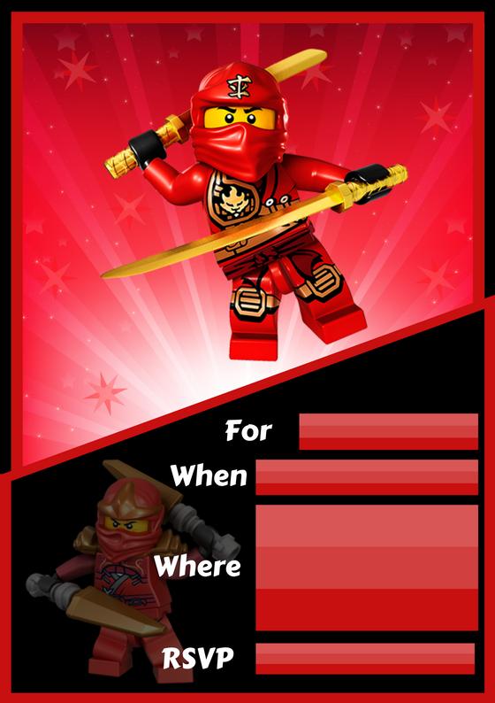 Lego Ninjago Invite from Wonder kids