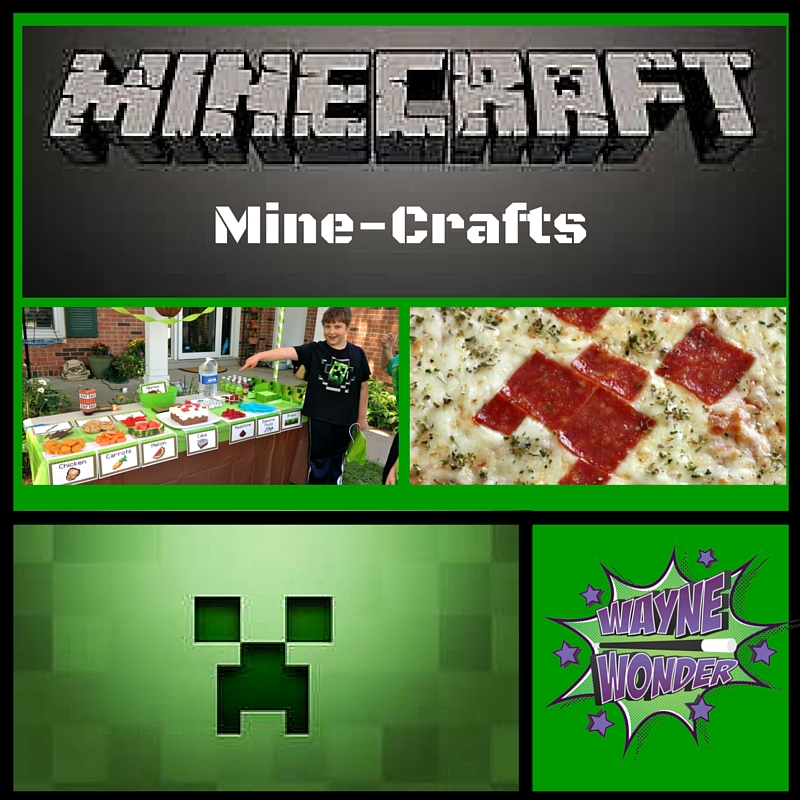 Minecraft - DIY Minecraft SwordMinecraft PizzaMinecraft Party BoxMinecraft Party