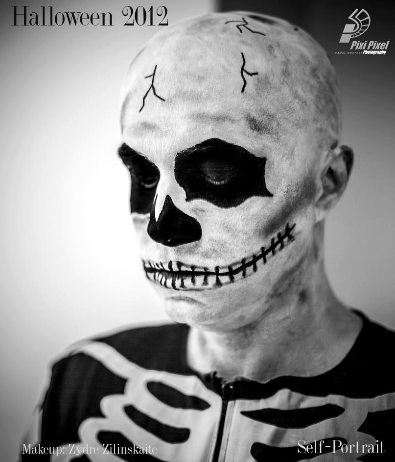 zyzi makeup zydre zilinskaite kamal mostofi pixi pixel photography skeletom halloween