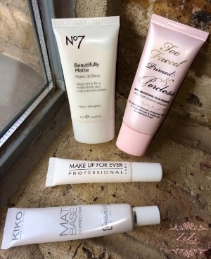 Matte face primer makeup base zyzi artist london review mac too faced kiko body shop No7.jpg