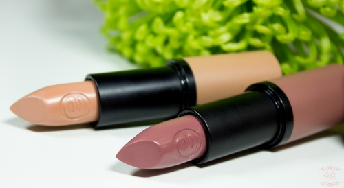 Essence 'Longlasting lipstick nude' #02 Porcelain Doll & #05 Cool Nude