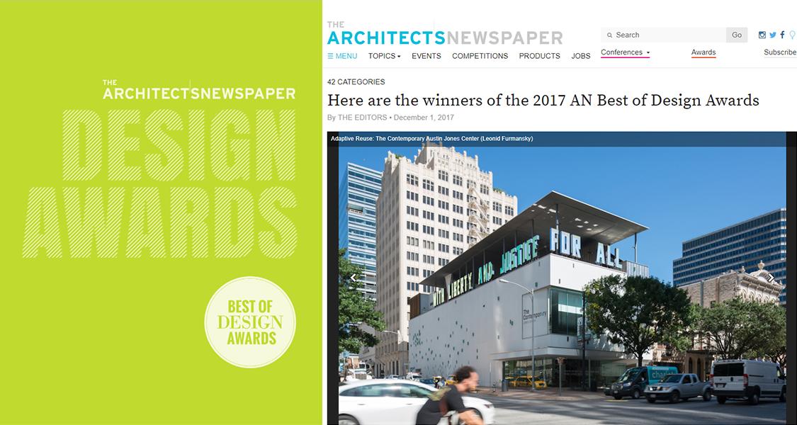 The ContemporAry Austin Wins 2017 AN Best of Design Award — LTL ...